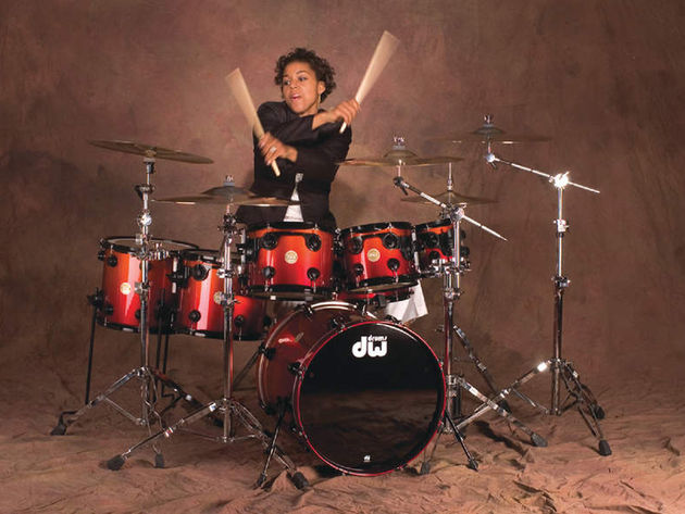 Cora Coleman Dunham on her DW Collector's Series kit