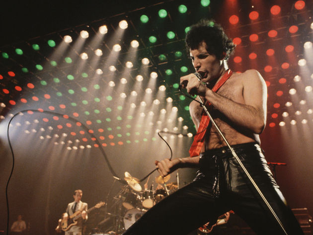 Freddie Mercury: having such a good time, having a ball.
