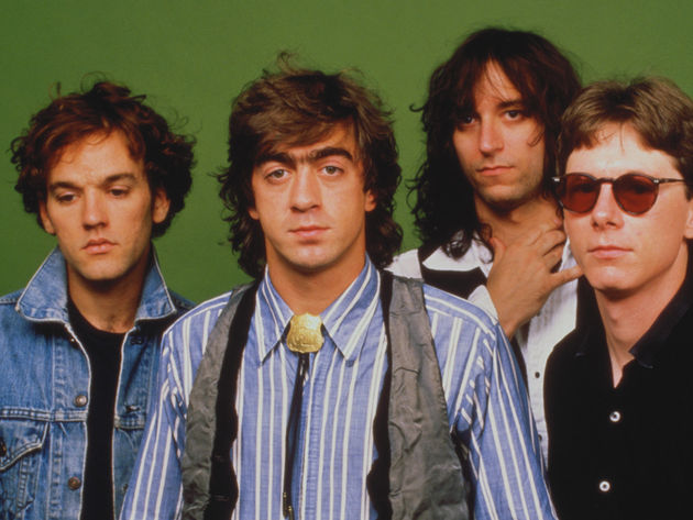 REM in 1987, with drummer Bill Berry (second from left)