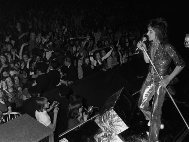 Rod Stewart performing with The Faces in 1972.