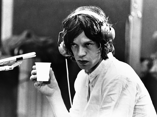 Mick Jagger at Olympic Sound Studios, 1968