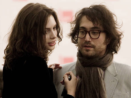Sean Lennon, right, with musical and romantic partner Charlotte Kemp Muhl in