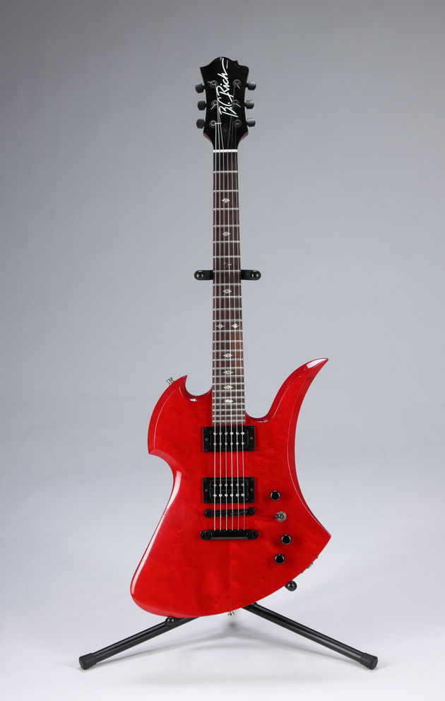 Lot 505: Slash-played red BC Rich Mockingbird