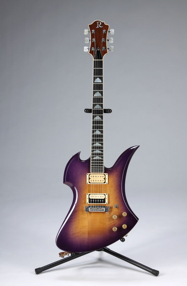 Lot 369: Slash-played purple sunburst BC Rich Mockingbird