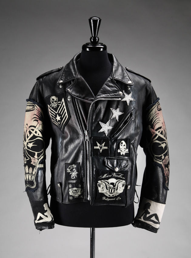 Lot 370: Slash-owned custom Marc Vachon leather jacket