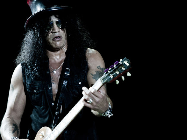 Slash just started mixing, but his first new song is coming soon