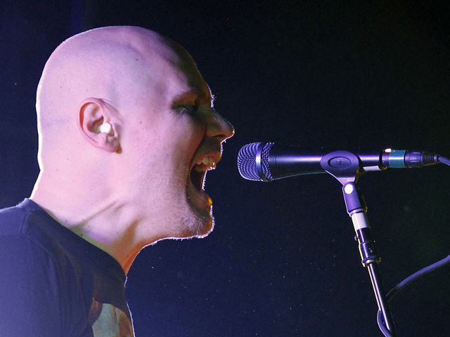 Billy Corgan setting fire to the stage, not to himself on YouTube
