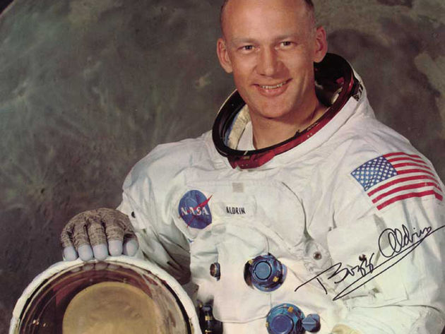 Buzz Aldrin, man on the moon
