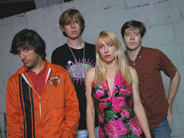 Sonic Youth back in the day, 1990: (from left) Lee Ranaldo, Thurston Moore, Kim Gordon and Steve Shelley