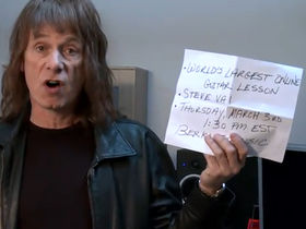 Spinal Tap's Nigel Tufnel promotes Steve Vai's Guinness Record attempt