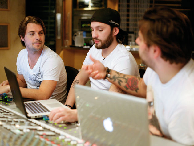 Swedish House Mafia: (from left to right) Axwell, Steve Angello and Sebastian Ingrosso.