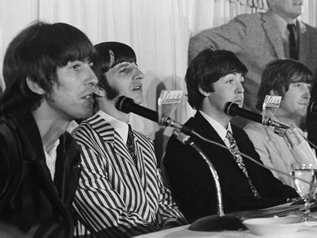 The Beatles meet the press in 1966