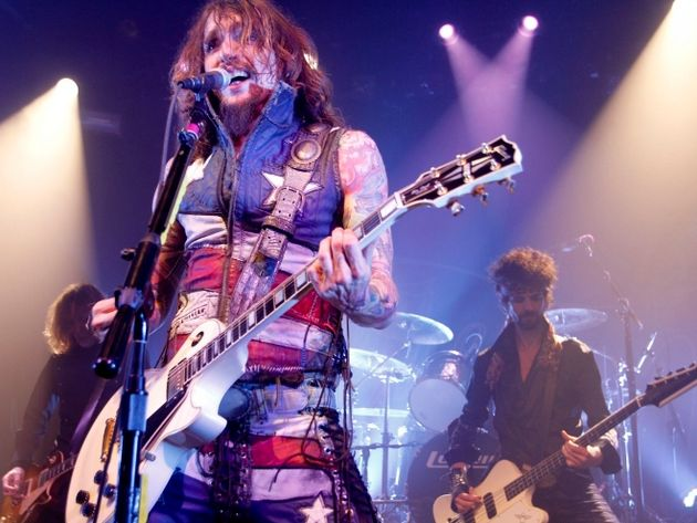 Justin Hawkins onstage in the USA earlier this year