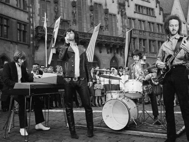 They don't look so strange here - The Doors performing outside of Town Hall in Frankfurt in 1968