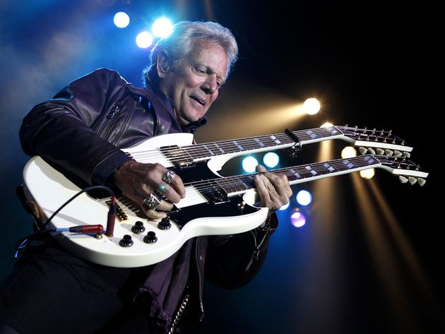 "Felder on stage with his Gibson Don Felder Signature ""Hotel California"" EDS-1275"