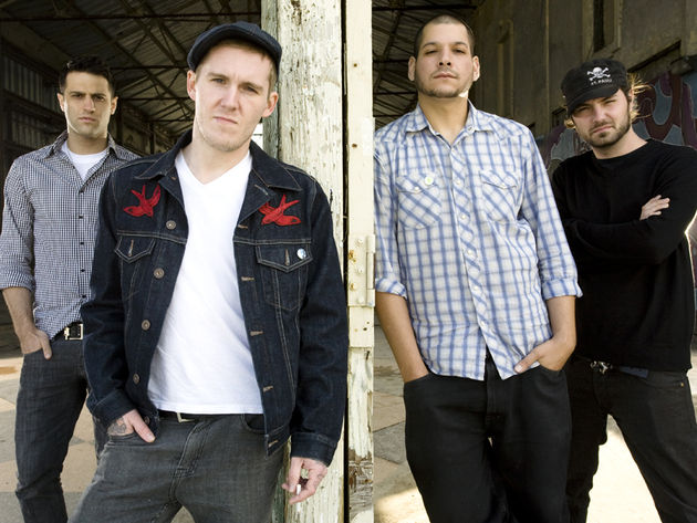 Brian Fallon (second from left) has this advice for yong bands:Get in the van!