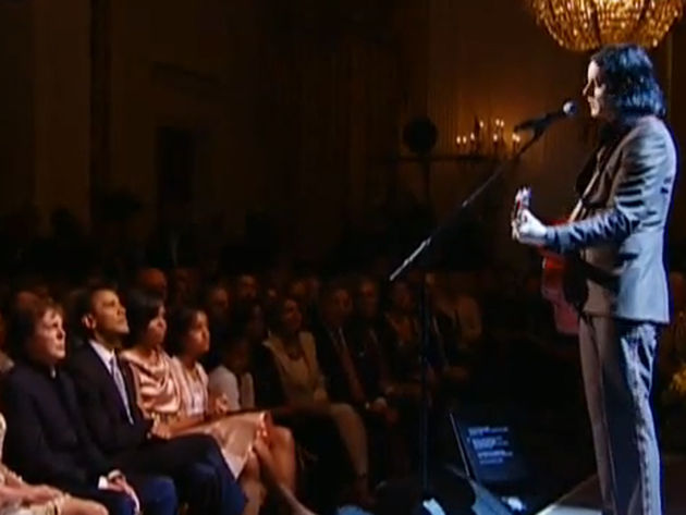 Jack White plays for Obama and McCartney...no pressure there!