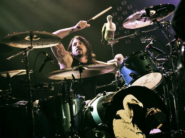 Dave Grohl onstage with Them Crooked Vultures