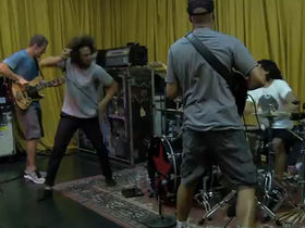 Watch Rage Against The Machine rehearse for their LA Rising show