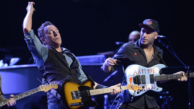 Tom Morello's guitar and vocal talents are in abundance on Bruce Springsteen's new album, High Hopes