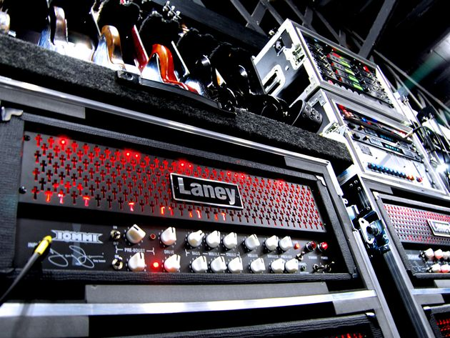 It even looks loud: the Laney TI100 Tony Iommi signature amp