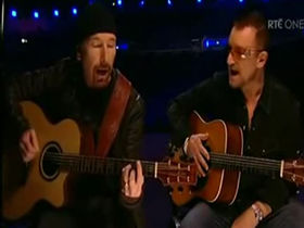 U2's Bono and The Edge help open Dublin's O2 Arena