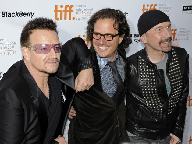 For Bono, pictured with director Davis Guggenheim and The Edge, it might get uncomfortable