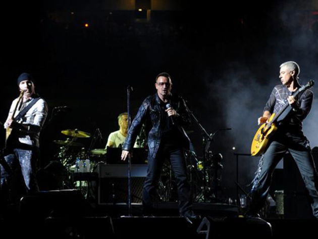 According to U2, they're going to stay in your faces