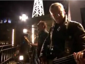 U2 play a surprise London rooftop gig
