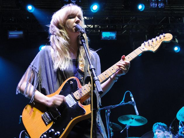 Lauren Larson on stage with her mid-'70s Telecaster Custom