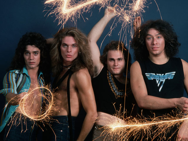 Van Halen in 1978, in a pose apparently not inspired by The Kinks
