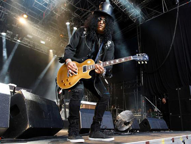 A solo album almost done, Velvet Revolver on the hunt, Slash keeps busy