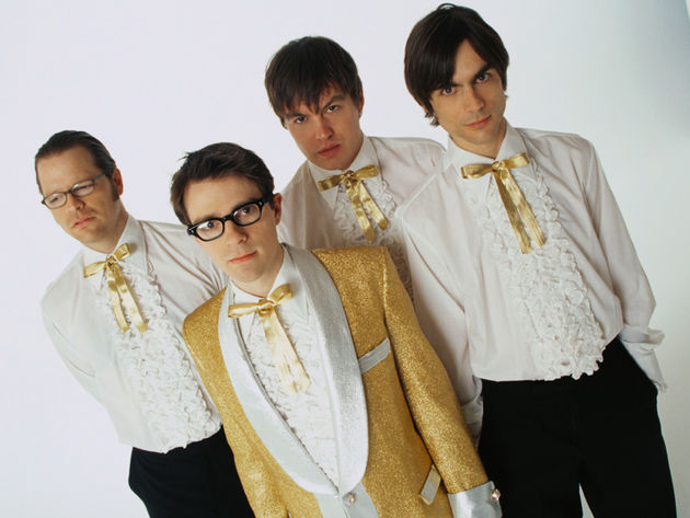 Weezer with Mikey Welsh (second from right) in 2001
