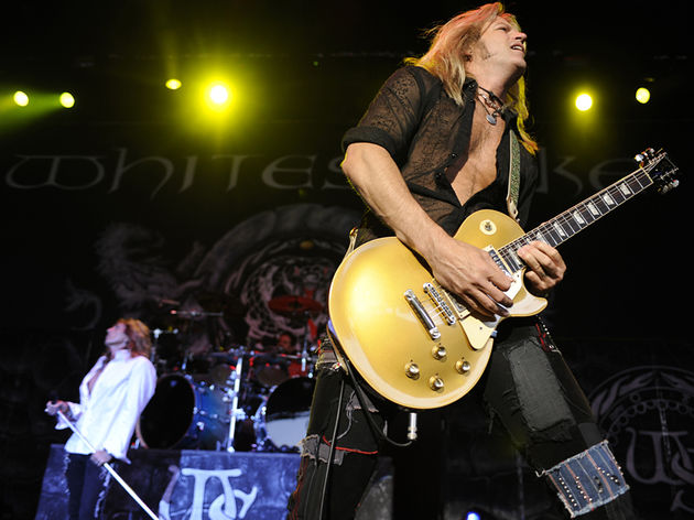 Aldrich onstage with David Coverdale and Whitesnake in California in 2009