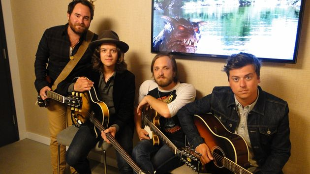 Wild Feathers members (from left) Preston Wimberly, Joel King, Taylor Burns and Ricky Young backstage in New York City.