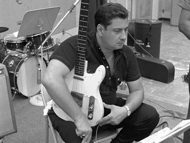 Tommy Tedesco cradles his Telecaster during a Wrecking Crew date