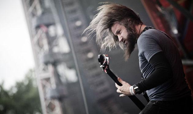 Troy Sanders - Mastodon's bass supremo onstage in 2011
