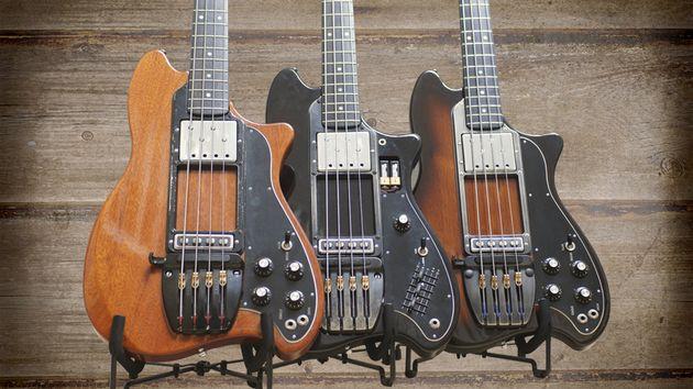 A pair fine Ovation basses