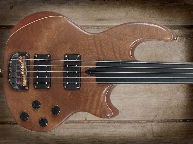 Wal Custom Mach II – Gold Plated Fretless 5-string