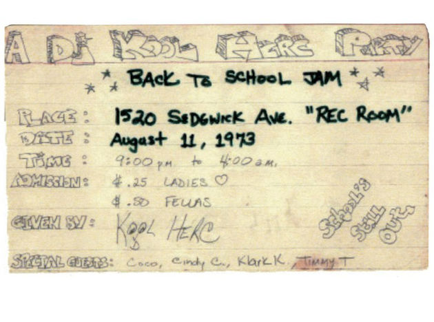 DJ Kool Herc's first party