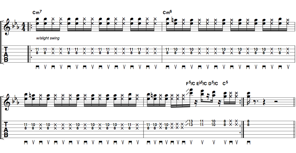 how to play renegades of funk on guitar