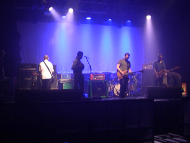 Soundchecking at Bristol's O2 Academy