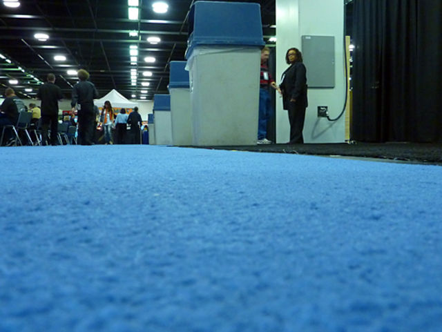 The show floor (literally)