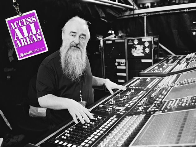 U2's sound director Joe O'Herlihy presides over those all-important faders
