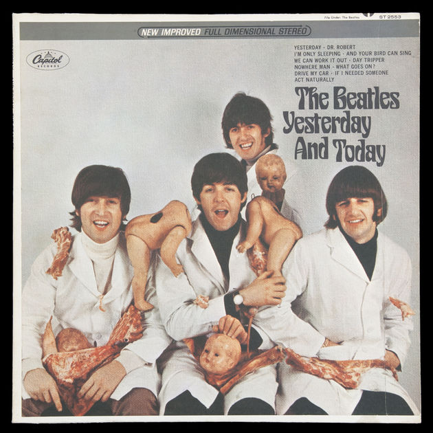 "Beatles ""First State"" Butcher Block cover of Yesterday... And Today"