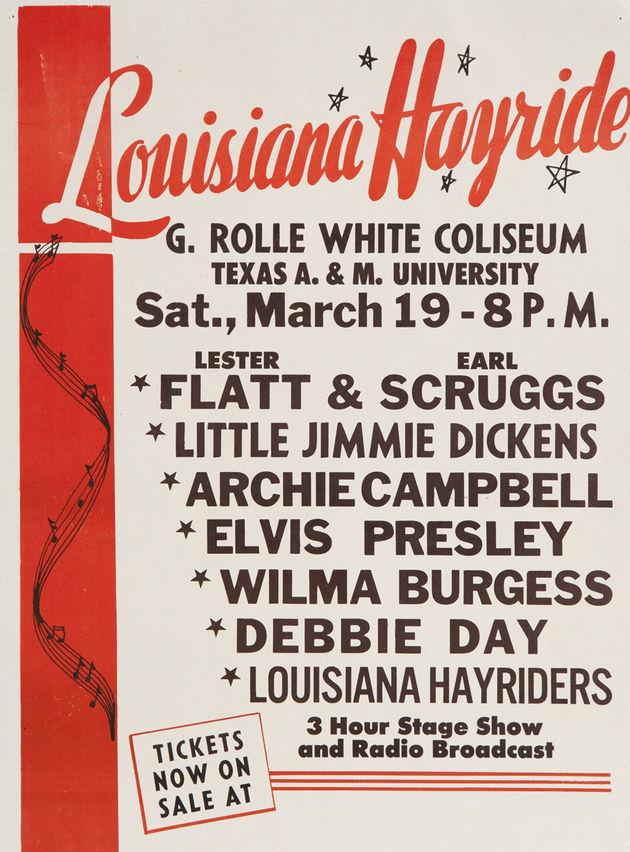 Elvis Presley Louisiana Hayride Concert Poster