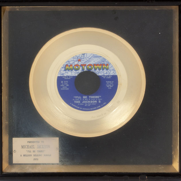 Gold single awarded to Michael Jackson for the Jackson 5's I'll Be There