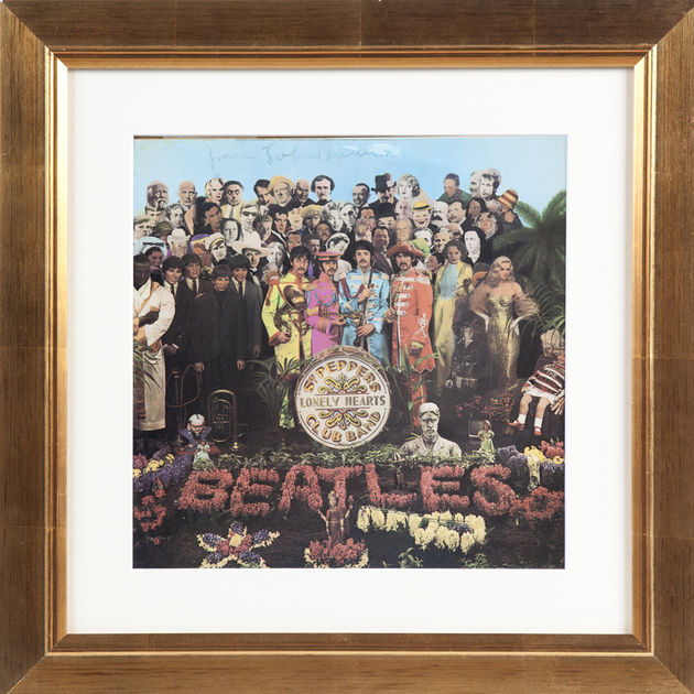 John Lennon signed copy of Sgt. Pepper's Lonely Hearts Club Band