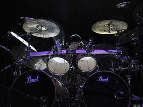 Bullet For My Valentine's drum setup in pictures
