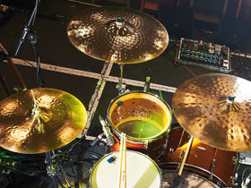 Brian Lane's Brand New drum setup in pictures
